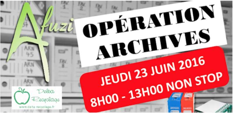 OPERATION COLLECTE ARCHIVES - 23 JUIN 2016